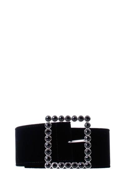 Orciani belt black velvet