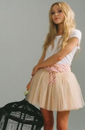 tutu mary kate olsen pink skirt brown skirt olsen olsen sisters skirt