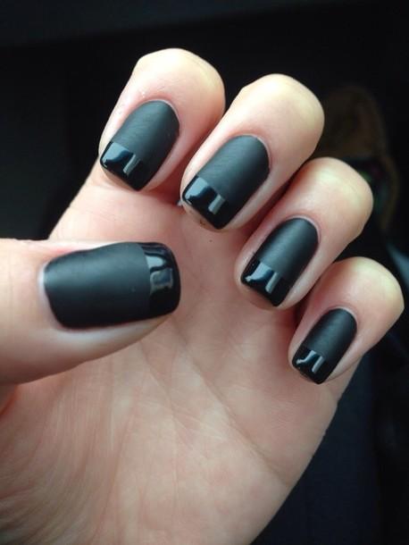 nail polish, nail accessories, nails, matte, black nail polish ...