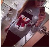 sweater,snowball,snowman,christmas,christmas sweater,jumper,ugly christmas sweater