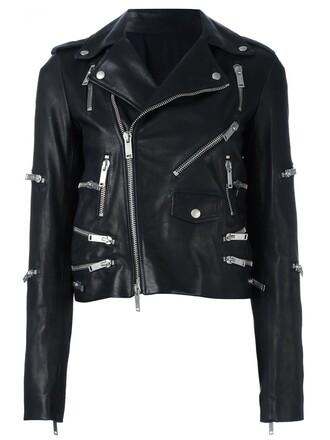 jacket biker jacket zip black