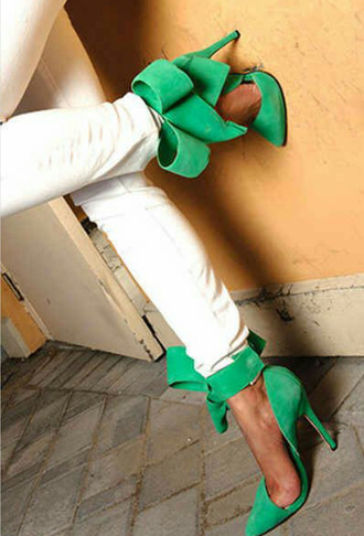 shoes jade high heels bows shoes with bows