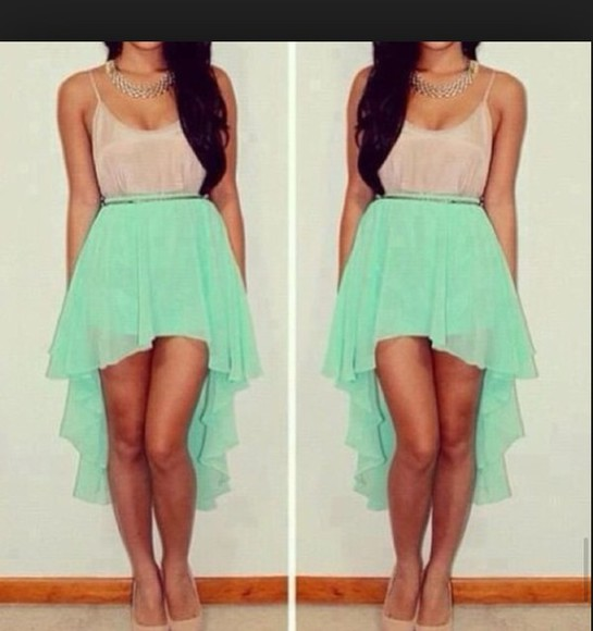 mint green skirt summer outfits