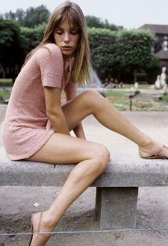 dress light pink light pink dress mini dress summer dress summer outfits flat sandals shoes