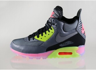 shoes neon nike air 90 nike running shoes nike sneakers hightop nike shoes