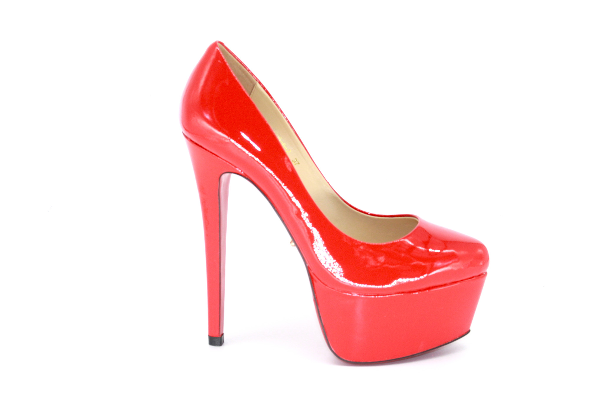 Fashion - Red Platform High Heel Pumps