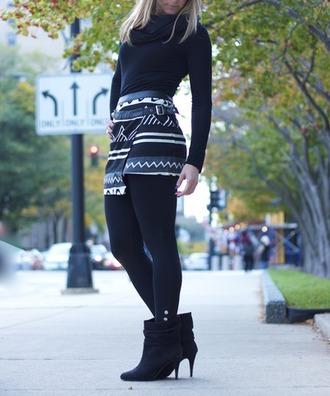 skirt geometric buckle