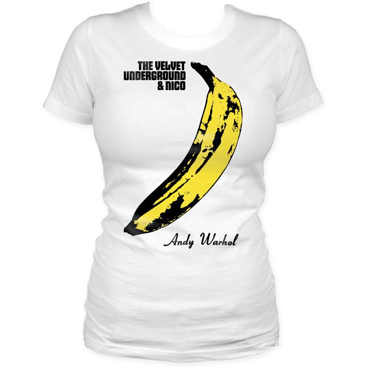 Velvet underground andy warhol banana women t