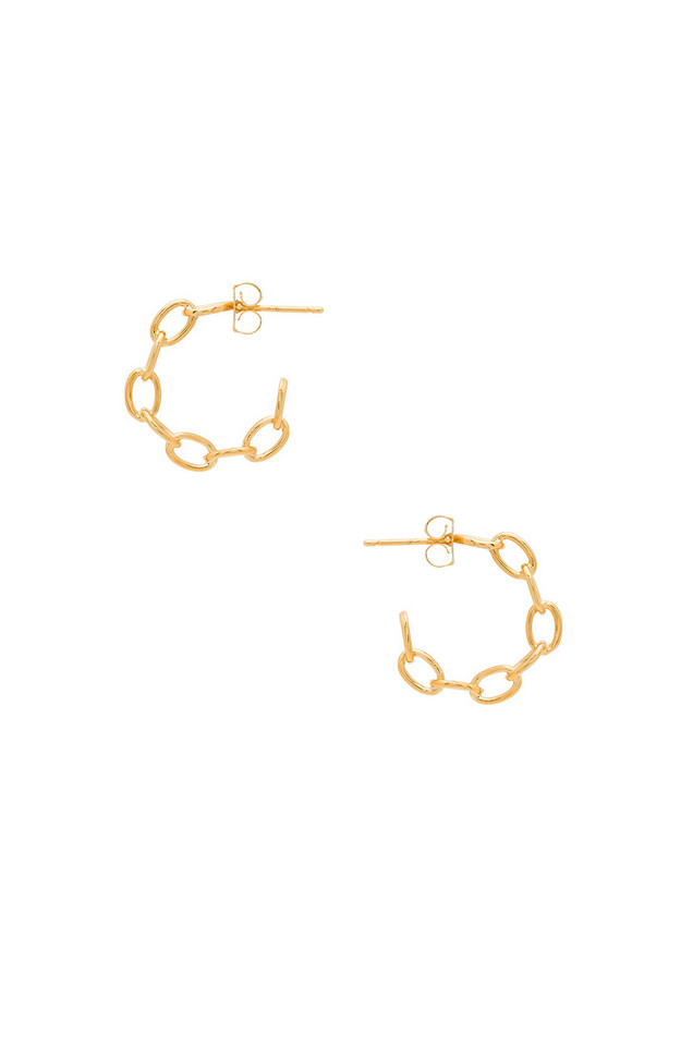 Five and Two Mariah Hoop Earrings in gold / metallic