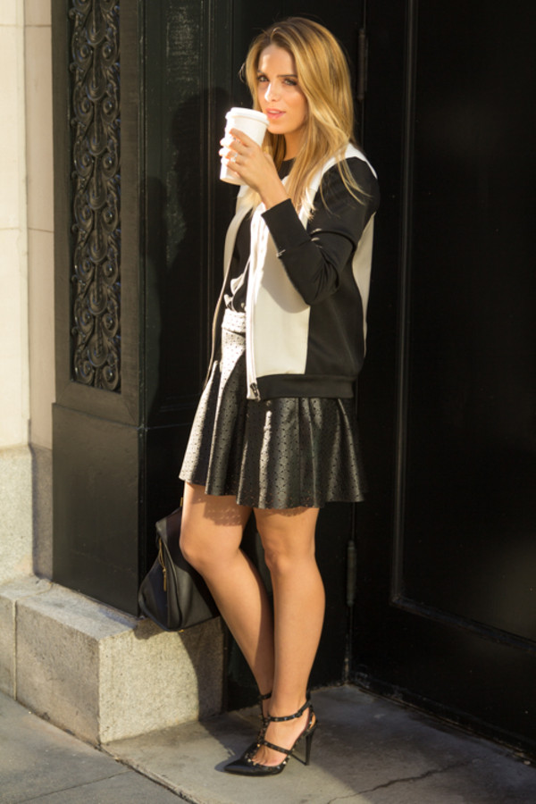 gal meets glam jacket t-shirt skirt shoes