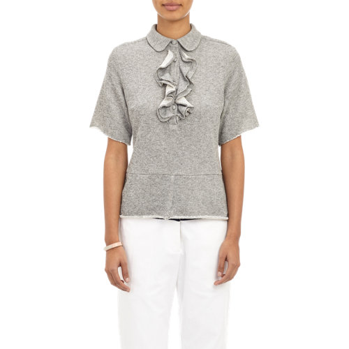 Front sweatshirt top at barneys.com