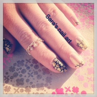 nail polish gold nails nail art