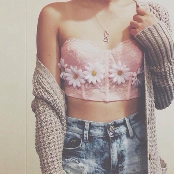 cardigan top shorts jewels