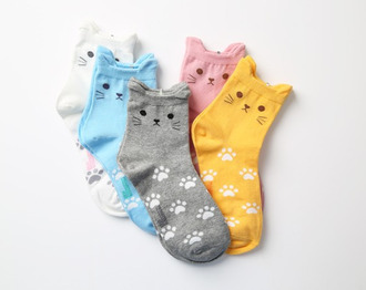 socks cat socks kawaii cats paws japanese kitty girly asian style japanese fashion