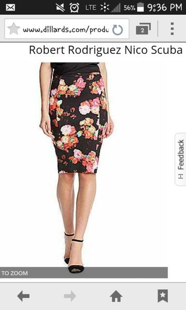 skirt floral skirt cute skirt