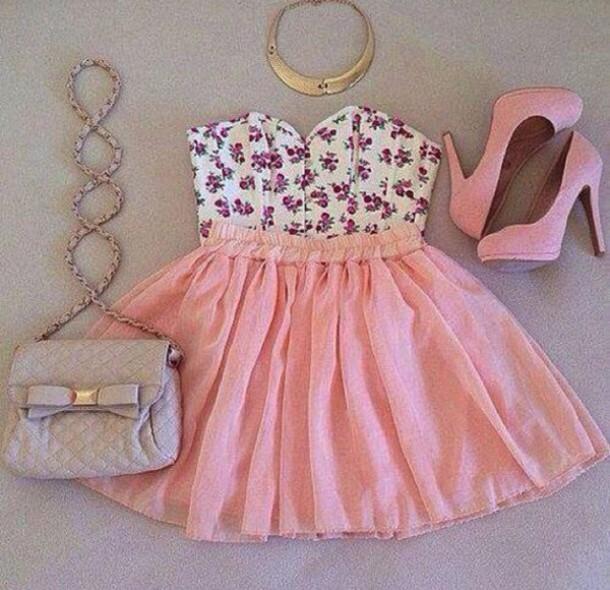 shirt top bag shoes jewels