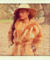 coat,fur coat,faux fur coat,fur,fox,gold,camel