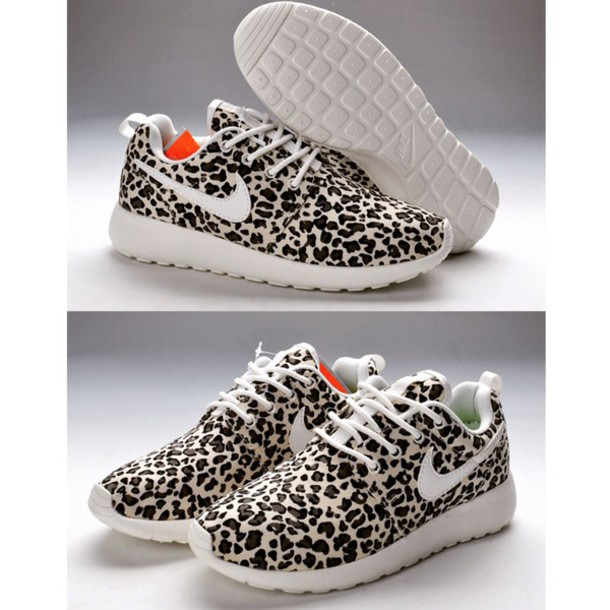 shoes leopard nike roshes