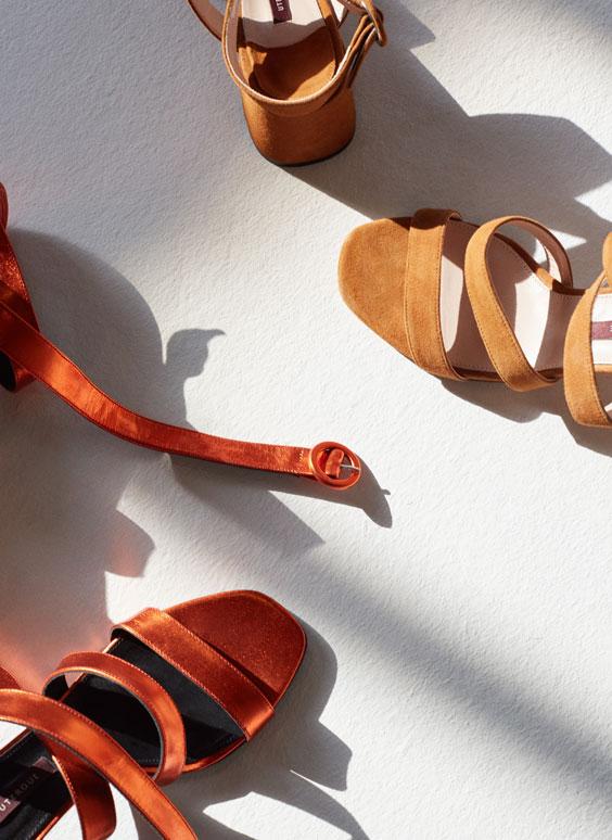 Laminated strappy sandals - View all - Footwear - Uterqüe United Kingdom