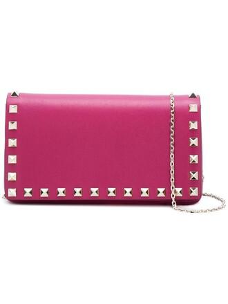 women bag crossbody bag leather purple pink