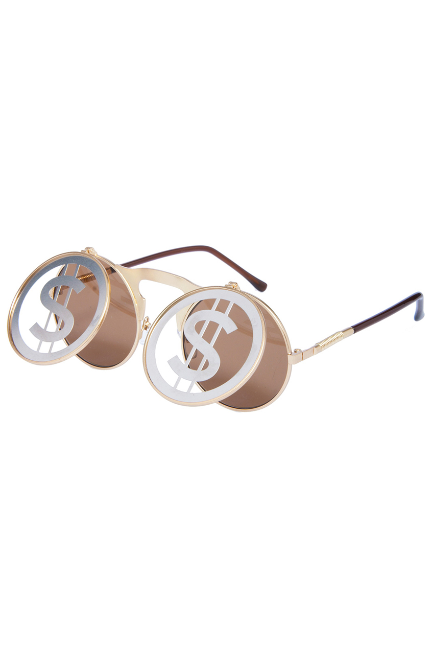 ROMWE | ROMWE Money Symbol Hollow-out Double-layered Sunglasses, The Latest Street Fashion