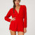 Buy Motel Jet Plunge Neck Playsuit in Red at Motel Rocks