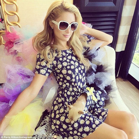 paris hilton dress sunglasses floral