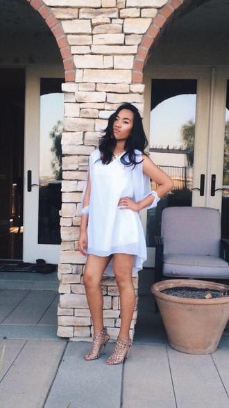 dress white silk