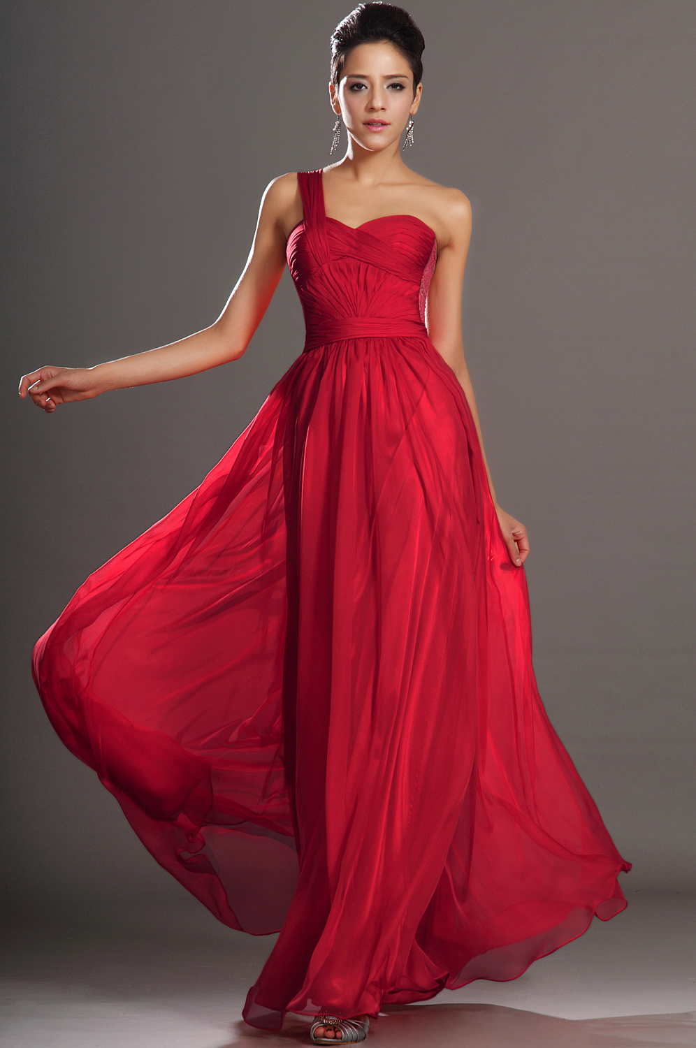 2013 new arrival gorgeous one shoulder evening dress under 100