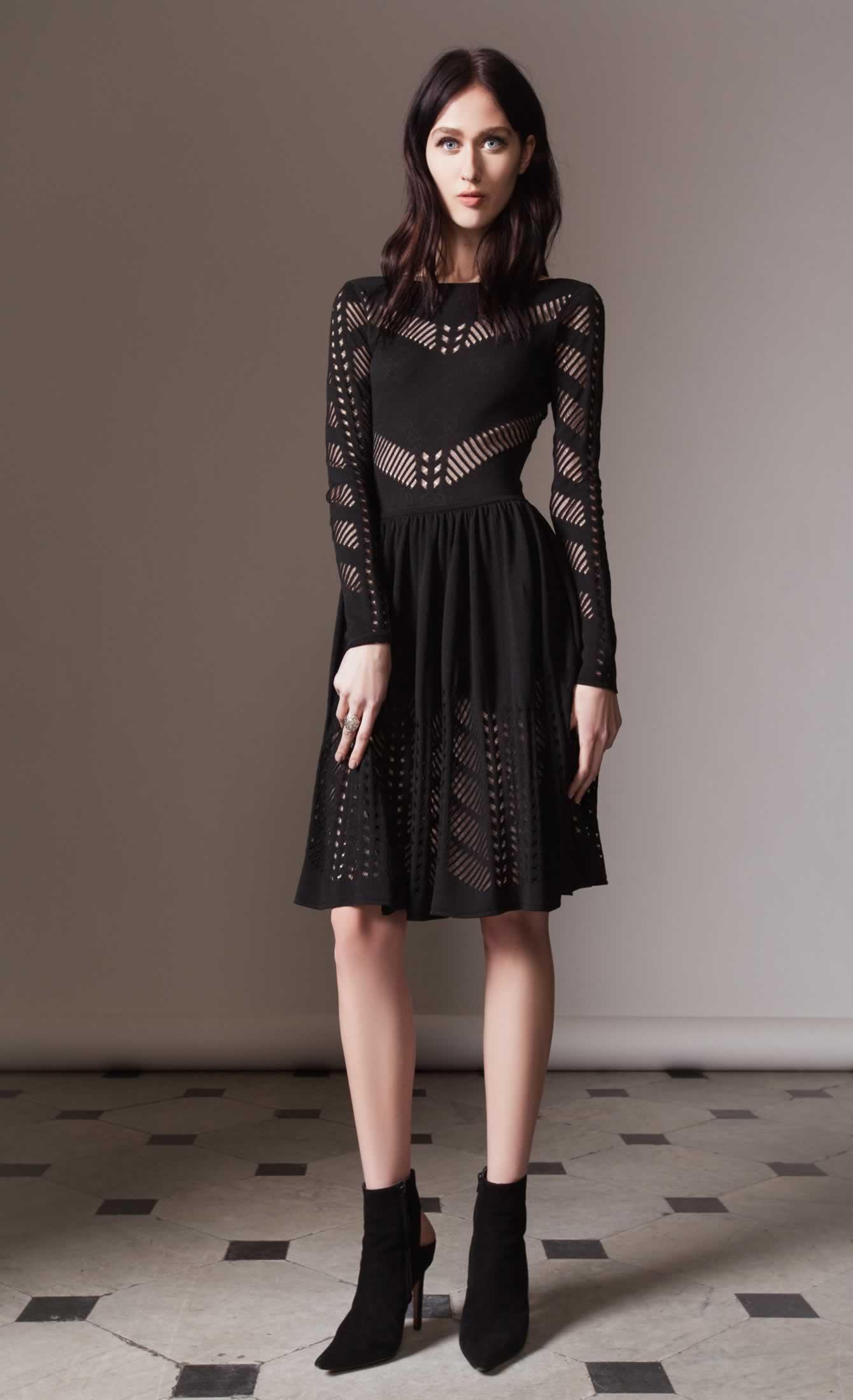 Emblem flare dress
