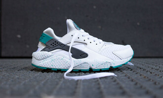 shoes huarache white turquoise nike