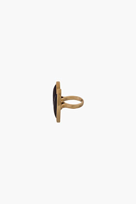 Maiyet Gold & Black Horn Double Floating Ring for women | SSENSE