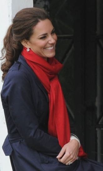 jewels red scarf kate middleton earrings jewelry
