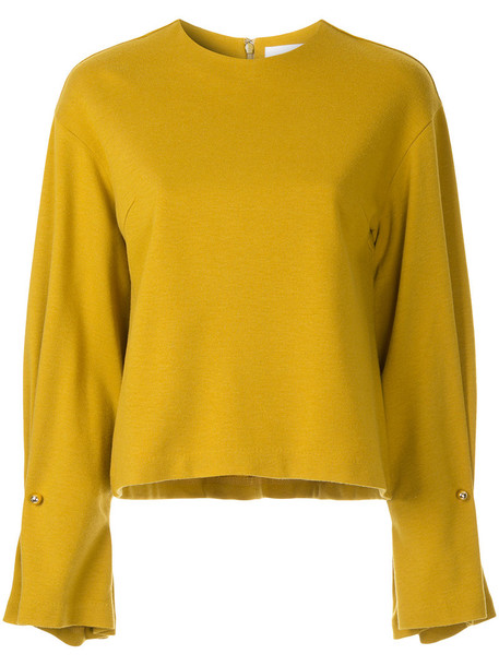 Le Ciel Bleu jumper women wool yellow orange sweater