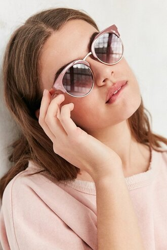 sunglasses cat eye festival wear eye wear pink cute