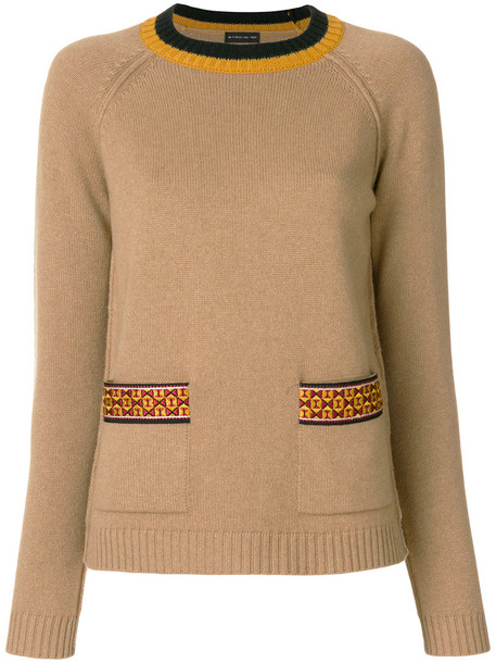 ETRO jumper embroidered women nude wool sweater