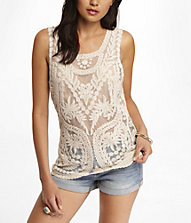 BAROQUE LACE TANK | Express