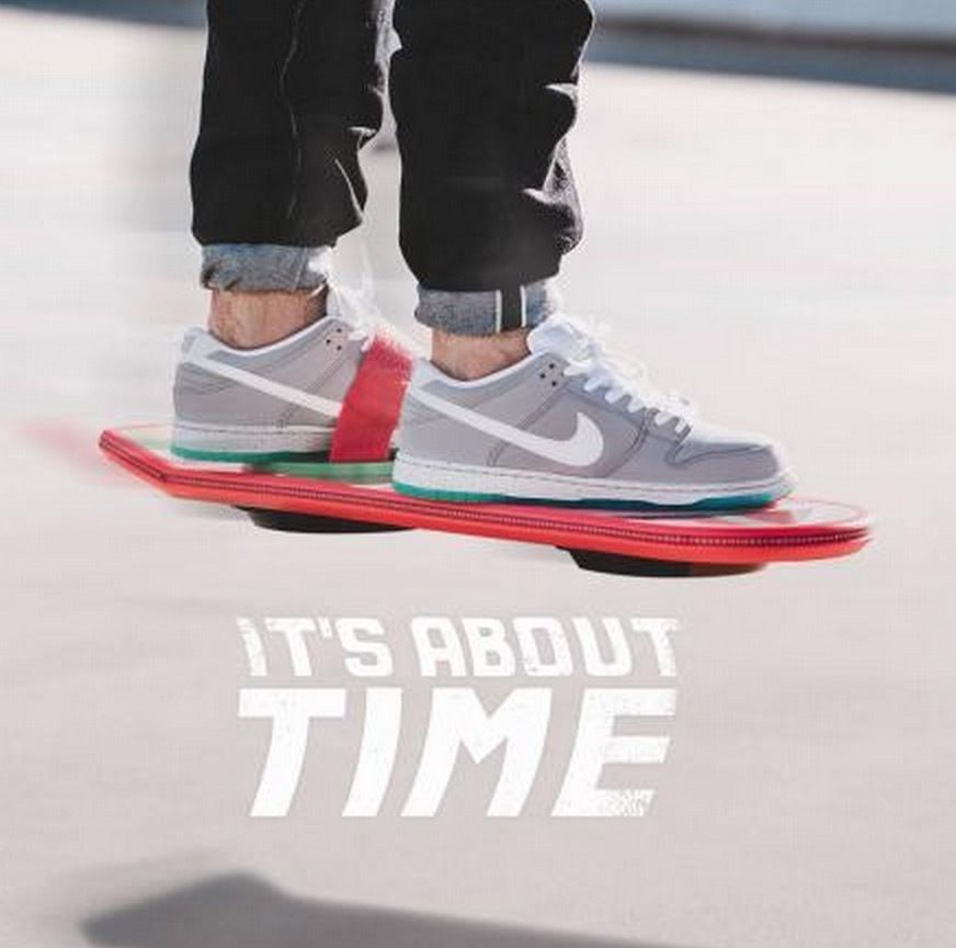 8ef2b3ad9e5b Mens Nike Dunk Low Premium SB Marty McFly Air Mag Back To The ...