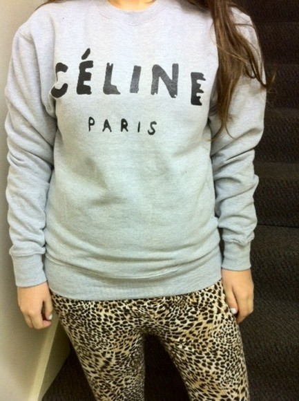 celine sweater celine paris jumper black celine paris shirt