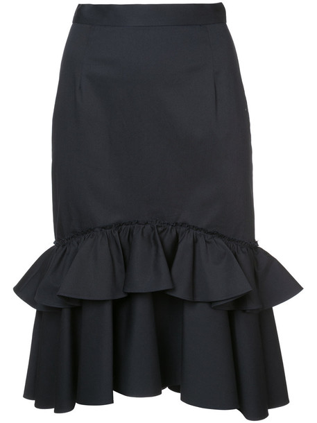 skirt midi skirt women midi cotton black