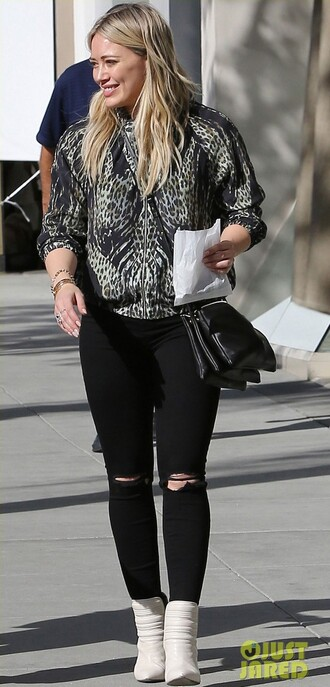 hilary duff celine white shoes