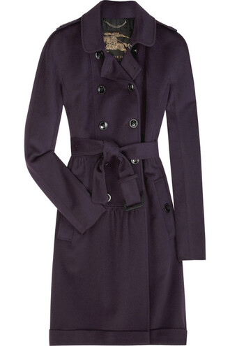 trench coat grey jacket blue jacket mac burberry belt purple jacket