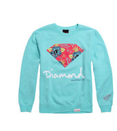 sweater,blue sweater,diamond supply co.