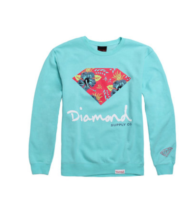 sweater blue sweater diamond supply co.