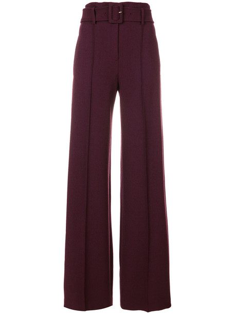 theory high women spandex cotton wool red pants