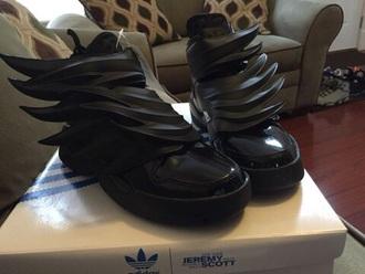 shoes adidas dark night adidas wings jeremy scott