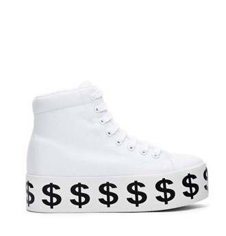platform shoes jeffrey campbell dollar sign platform sneakers