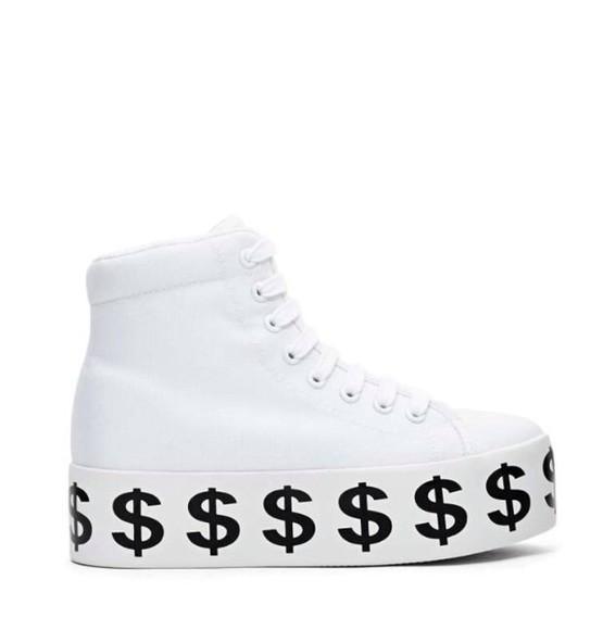 platform shoes jeffrey campbell dollar sign platform sneakers