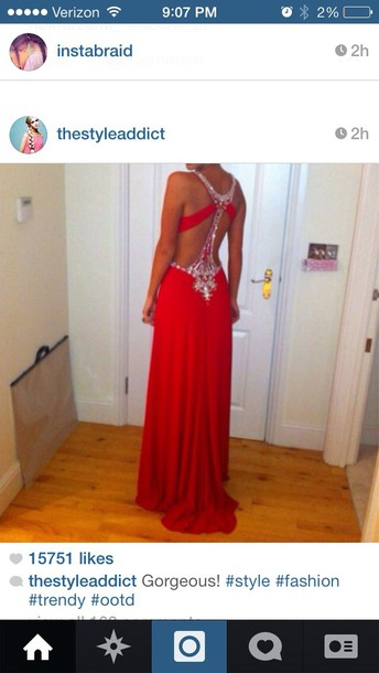 dress red prom dress prom dress open back dresses red long embellished prom dress back red dress red and silver style red long bodycon dress tight prom long dress