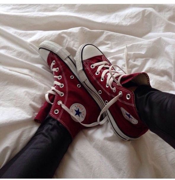 Maroon Converse Shoes High Tops